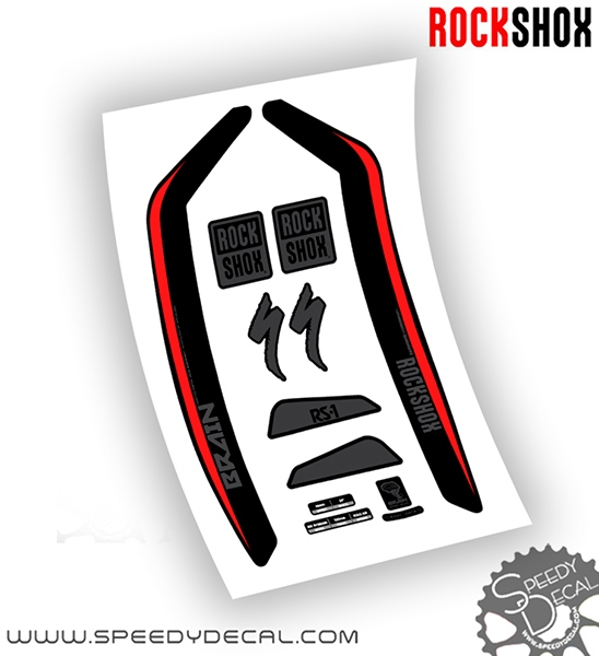 rock shox rs 1 brain 2017 adesivi per forcella. Black Bedroom Furniture Sets. Home Design Ideas