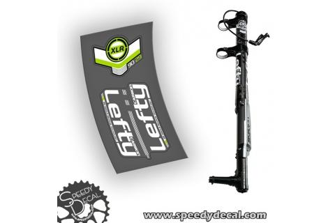 Cannondale Lefty XLR 90 anno 2014 adesivi personalizzati - Hybrid needle bearing technology