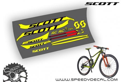 Scott Spark RC 2018 - kit adesivi telaio