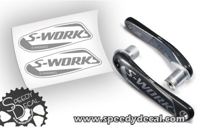 Specialized S-works fact carbon pedivelle - adesivi personalizzati
