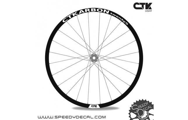 CTKARBON twenty 25 - Adesivi per ruote