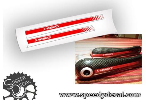 Specialized S-works pedivelle - adesivi personalizzati
