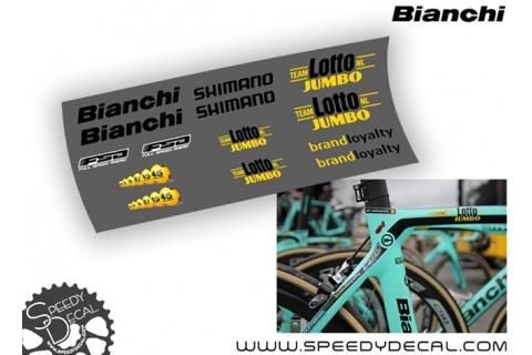 Team Lotto NL JUMBO - kit adesivi telaio