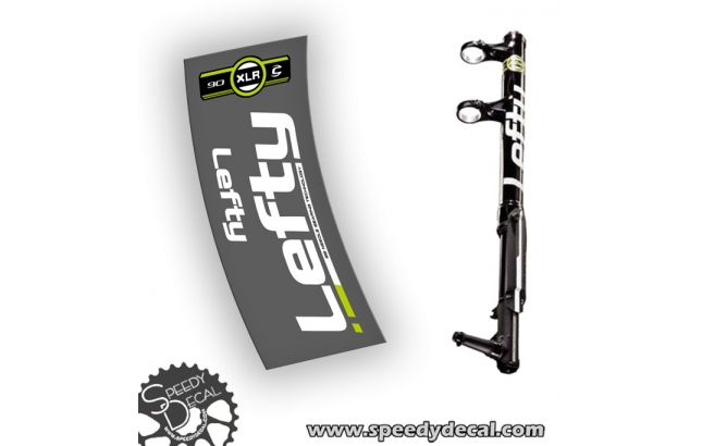 Cannondale Lefty XLR 90 alu 2013 - adesivi per forcella