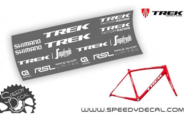 Trek Emonda Segafredo Zanetti Race Shop Limited - adesivi per telaio