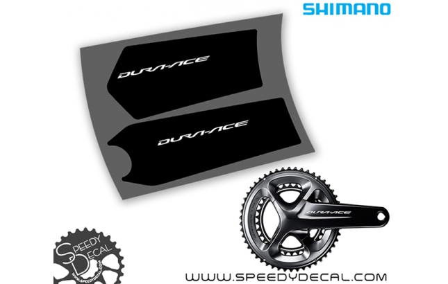 Shimano Dura Ace FC-R9100 - adesivi per pedivelle - adesivi per pedivelle
