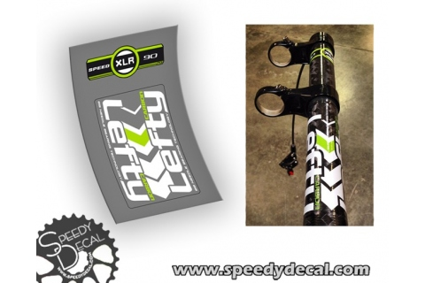 Cannondale Lefty carbon XLR 29 90 mm - F29 HM1 2013 - adesivi personalizzati