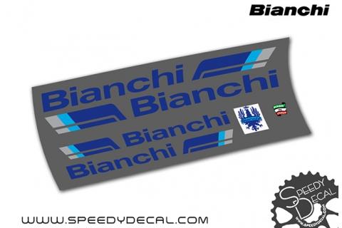 Bianchi 80's - kit adesivi telaio