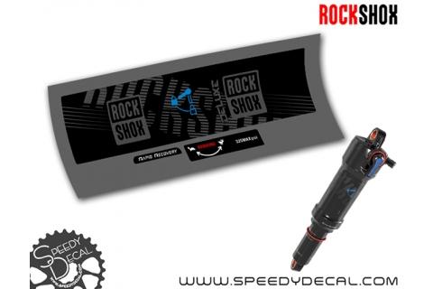 Rock Shox Deluxe RT 2018 - adesivi per ammortizzatore posteriore
