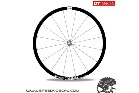 DT Swiss C1800 Spline Disc - adesivi per ruote