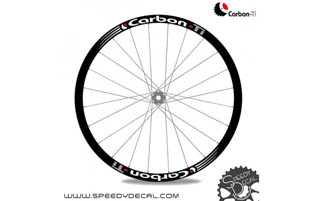 Carbon-Ti adesivi con logo - adesivi per cerchi