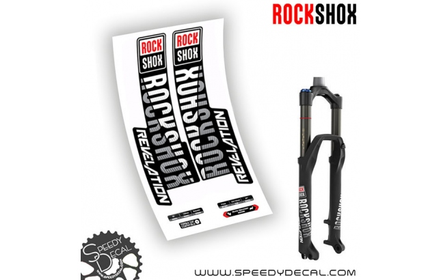 Rock shox Revelation RC anno 2018 - adesivi per forcella