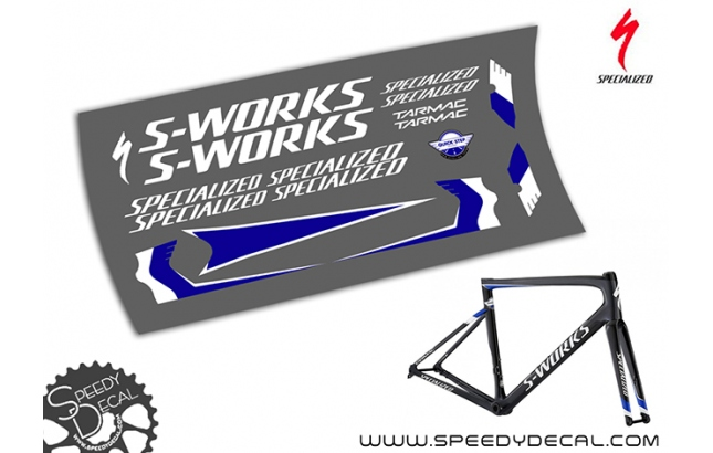 Specialized S-Works  Tarmac Quick Step Floors 2018 - kit adesivi telaio