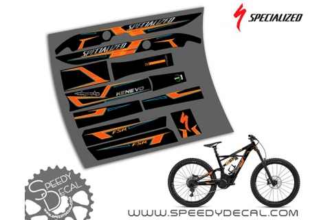 Specialized Turbo Kenevo Troy Lee Designs 2018 - kit grafiche per telaio