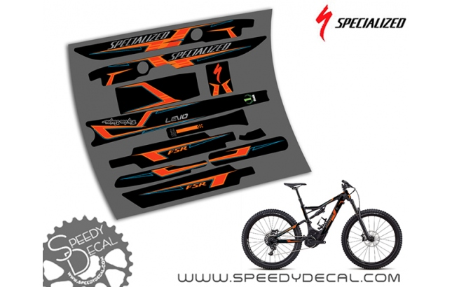 Specialized Turbo Levo Alu Troy Lee Designs 2018 - kit grafiche per telaio