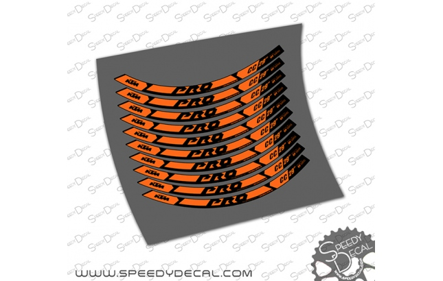 """KTM Pro CC 29"""" - Adesivi per ruote"""
