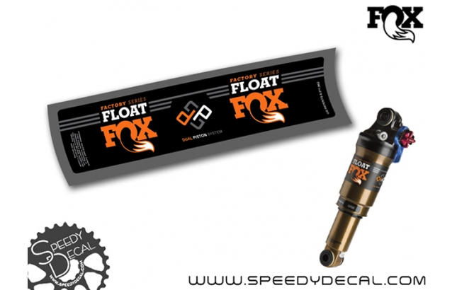 Fox Float DPS Factory Racing 2016 - adesivi per ammortizzatore posteriore