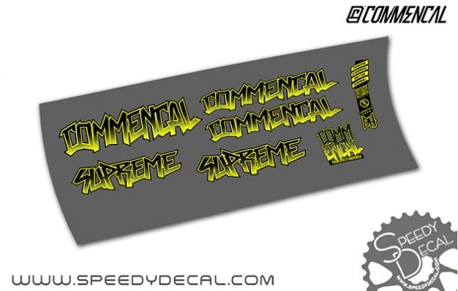 Commencal Supreme V3 - kit adesivi telaio