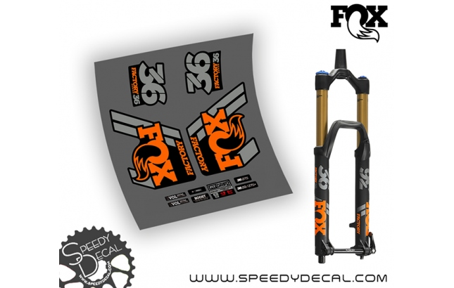 Fox 36 Grip 2 Factory 2019 - adesivi per forcella