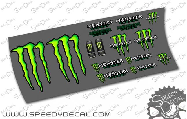 Kit adesivi Monster Energy per casco / telaio