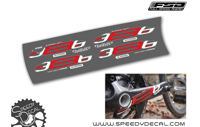 FSA K-Force Light BB386 Wilier  -  adesivi per pedivelle