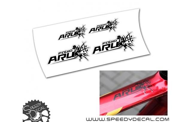 Fabio Aru Logo - kit adesivi misti