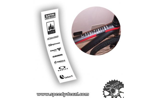 Kit 10 loghi - sponsor adesivi personalizzati per telaio bici