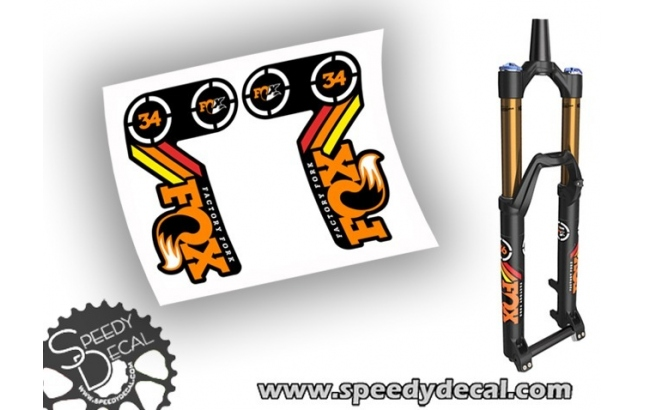 Fox Racing Shox 34 heritage 2015 - adesivi per forcella