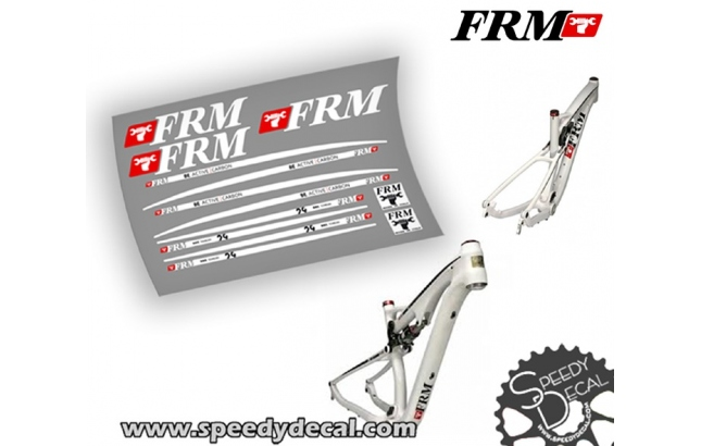 FRM Be Active Carbon 29er - kit adesivi per telaio