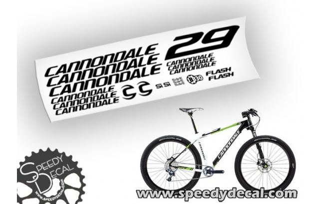 Cannondale Flash 29er Team f29 - adesivi personalizzati per telaio