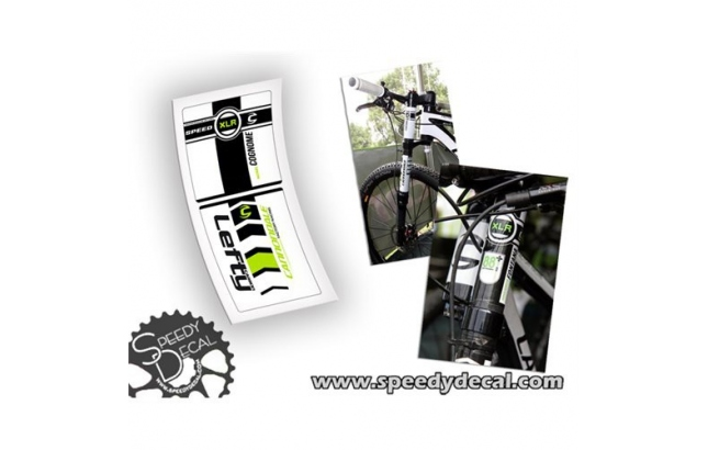 Cannondale Lefty XLR 90mm Factory Racing 2012 - adesivi per forcella