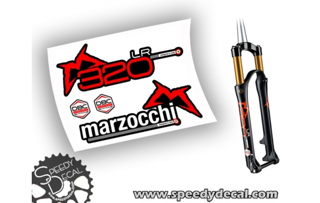 Marzocchi 320 LR 2015 - DBR- adesivi personalizzati per forcella