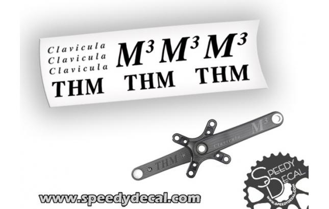 THM Carbones Clavicula M3 Adesivi personalizzati per pedivelle