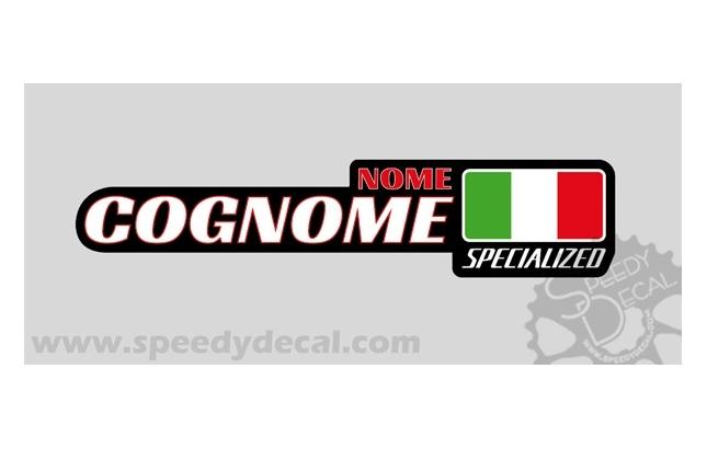Modello 22 con logo marchio - Kit adesivi nominativi (30 pezzi)