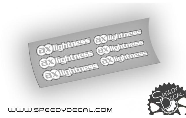Ax lightness Adesivi personalizzati per reggisella e manubrio
