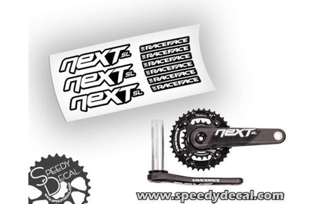 Race Face Next SL adesivi personalizzati per pedivelle