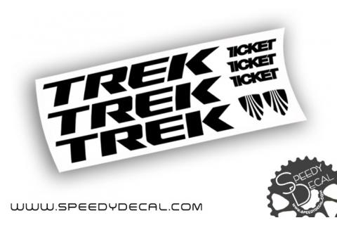 Trek Ticket - adesivi personalizzati per telaio
