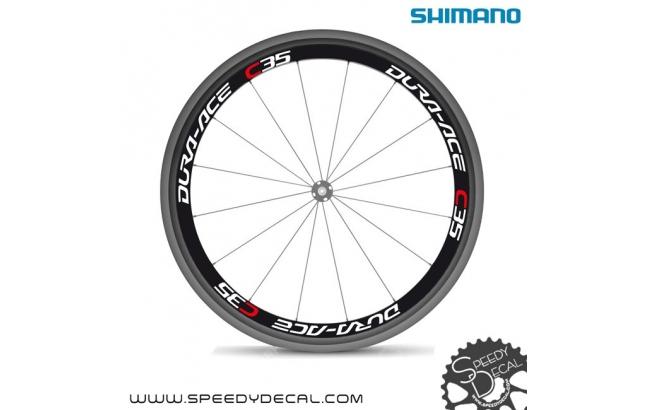 Shimano Dura Ace C35 - Adesivi personalizzati per ruote strada