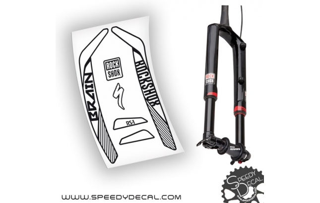 Rock shox RS-1 Brain 2015 - adesivi per forcella