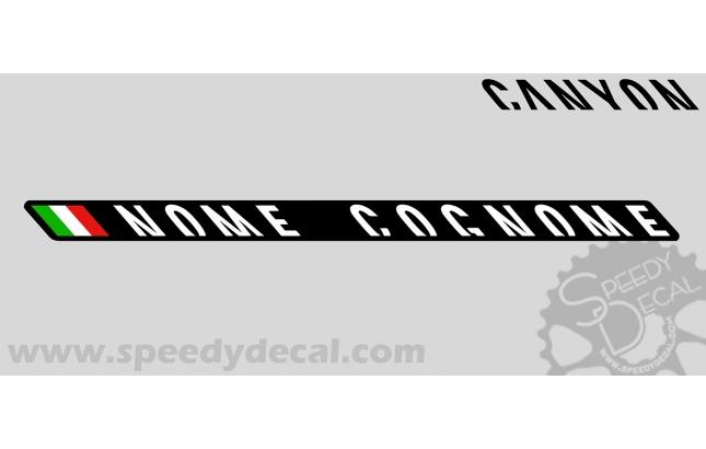 Modello 25 - Kit adesivi nominativi (30 pezzi) - Canyon  bikes