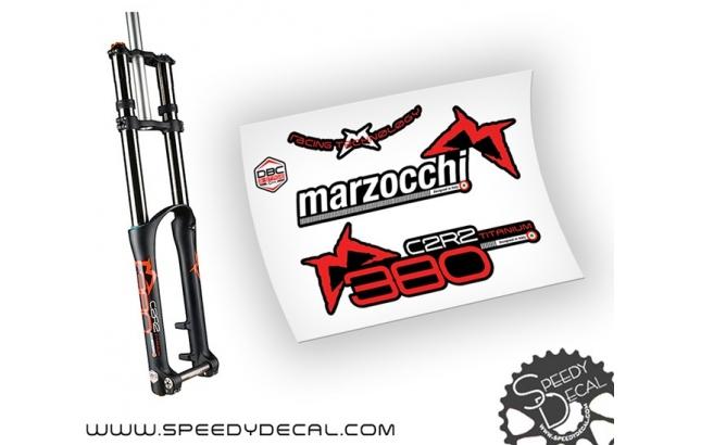 Marzocchi 380 C2R2 Titanium 2014 DBG - adesivi per forcella