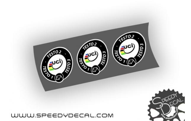 UCI Approved - Bollini personalizzati per telaio