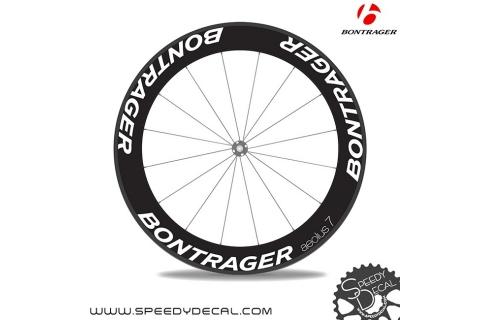 Bontrager Aeolus 7 anno 2015 - adesivi personalizzati per ruote