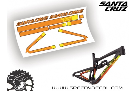 Santa Cruz Nomad C / CC 2016 - kit adesivi telaio