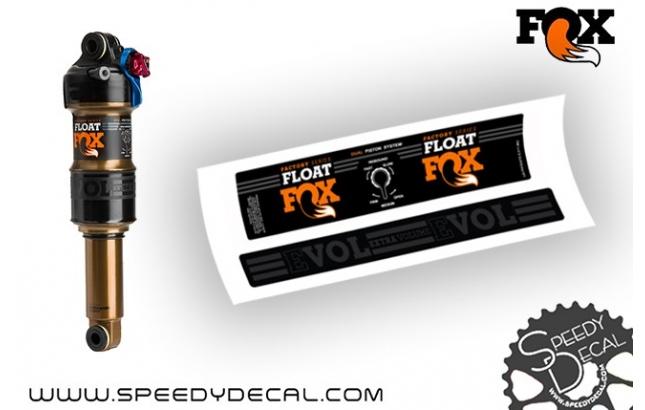 Fox Float Factoy Racing modello 2016 - adesivi personalizzati per ammortizzatore