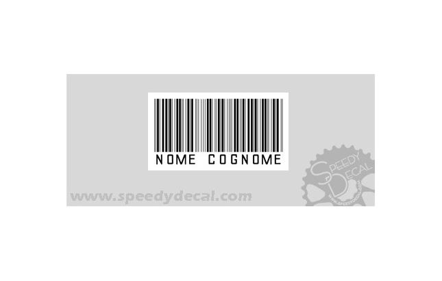 Modello 16 - Kit adesivi nominativi (30 pezzi)