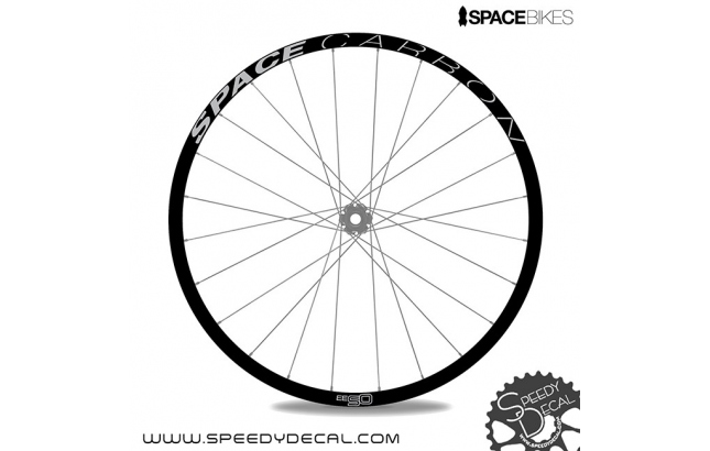 Space Bikes SPACE carbon OS29 OS33 OS35 - adesivi personalizzati per cerchi mtb
