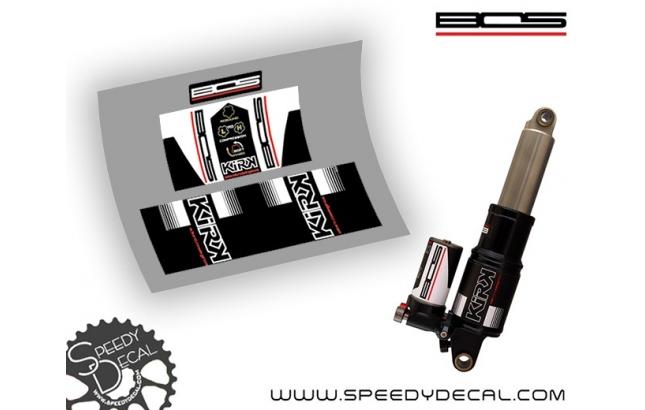 Bos suspension Kirk - adesivi per ammortizzatore posteriore
