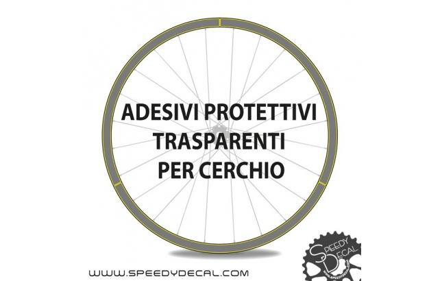 Kit adesivi protettivi trasparenti per cerchio MTB o strada