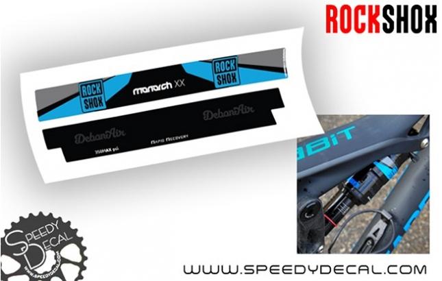 Rock Shox Monarch XX DebonAir 2016 - adesivi personalizzati per ammortizzatore posteriore